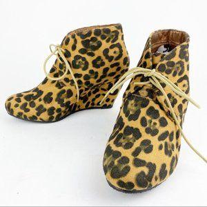 Bella Marie Cheetah Animal Print Ankle Boot NN658